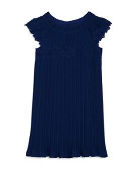 US Angels - Girls' Pleated Cap-Sleeve Dress - Little Kid
