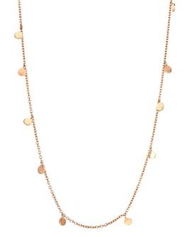 "Kismet By Milka - 14K Rose Gold Dangle Circles Necklace, 18"""
