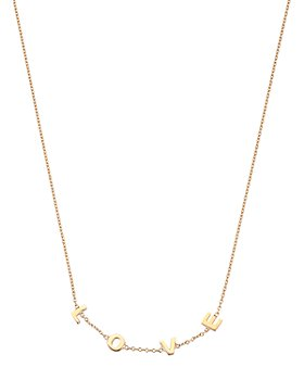 """Kismet By Milka - 14K Rose Gold Love Necklace, 18"""""""