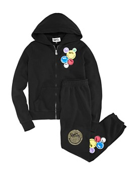 Butter - Girls' Love Me Patch Hoodie & Love Me Patch Jogger Pants - Little Kid, Big Kid