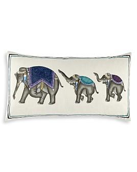 "John Robshaw - Elephant Family Bolster, 17"" x 32"""