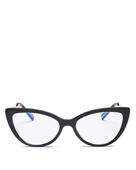 Quay - Women's Lustworthy Cat Eye Blue Light Glasses, 55mm
