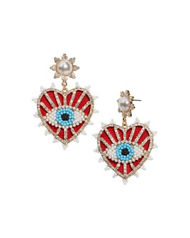 BAUBLEBAR - Ojo Evil Eye Heart Drop Earring