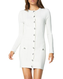 Ramy Brook - Lennox Button-Front Sweater Dress