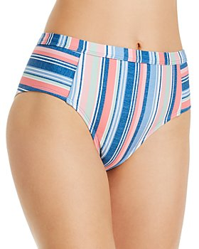 Splendid - Holding Pattern High-Waist Bikini Bottom
