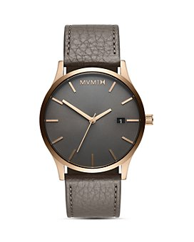 MVMT - Bronze Age Classic Leather Strap Watch, 45mm