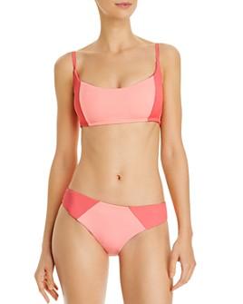 Peixoto - Jojo Smocked Color-Blocked Bikini Top & Issa Full Bikini Bottom