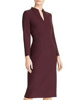 BOSS - Debara Collared Long-Sleeve Dress