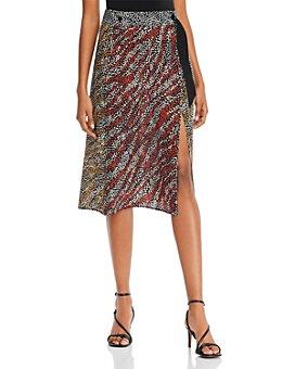 rag & bone - Colette Printed-Silk Wrap Skirt