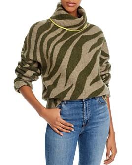 rag & bone - Kiki Zebra Wool-Blend Turtleneck Sweater