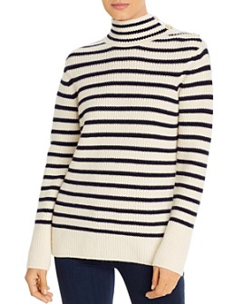 Tory Burch - Striped Wool & Cashmere Sweater