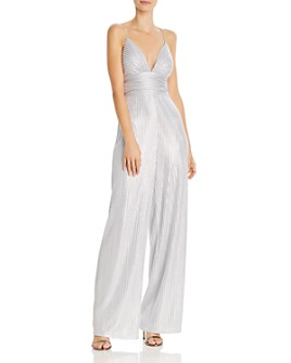 Aidan by Aidan Mattox - Metallic Knit Jumpsuit