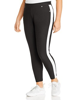 MICHAEL Michael Kors Plus - Track-Stripe Five-Pocket Leggings