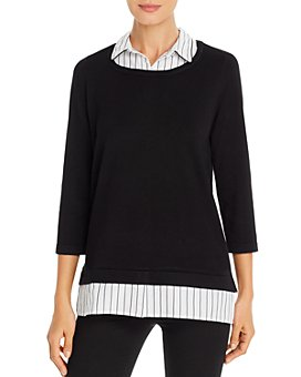 KARL LAGERFELD PARIS - Layered-Look Sweater