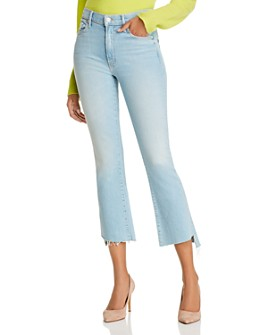 MOTHER - The Insider Crop Step Fray Flared Jeans in Fresh Catch