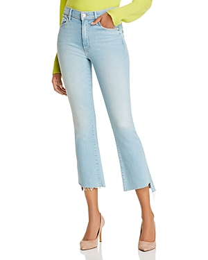 Mother The Insider Crop Step Fray Flared Jeans in Fresh Catch-Women