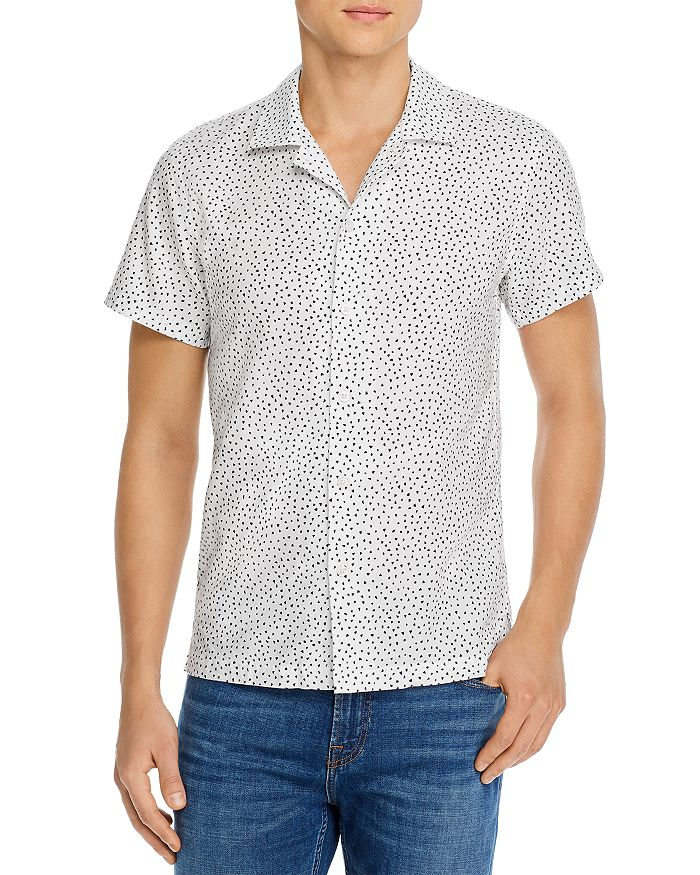 7 For All Mankind - Triangle-Print Slim Fit Short-Sleeve Shirt