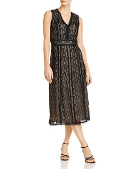 Elie Tahari - Pax Geometric Crochet Lace Dress