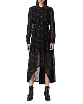 ALLSAINTS - Liza Cyla Embroidered Shirt Dress