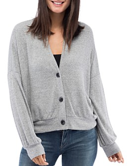 B Collection by Bobeau - Nia V-Neck Button Front Cardigan