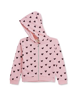 Sovereign Code - Girls' Yasmine Heart Print Hoodie - Little Kid, Big Kid