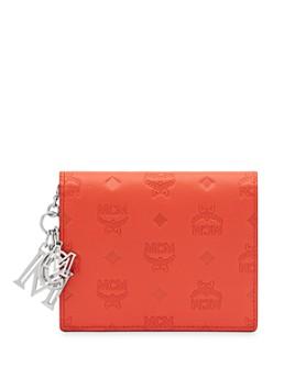 MCM - Klara Logo Monogram Leather Mini Continental Wallet