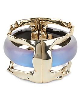 Alexis Bittar - Crumpled Metal & Lucite Stacked Cuff Bracelet