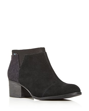 TOMS - Women's Loren Block-Heel Booties