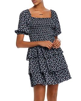 AQUA - Smocked Tiered Dress - 100% Exclusive