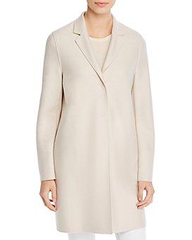 HARRIS WHARF - Virgin Wool Bicolor Coat
