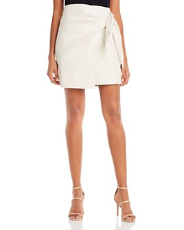 Lucy Paris - Faux Leather Mini Skirt - 100% Exclusive