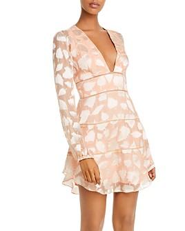 SAU LEE - Nola Silk Mini Dress