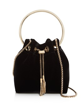 Jimmy Choo - Bon Bon Velvet Bucket Bag
