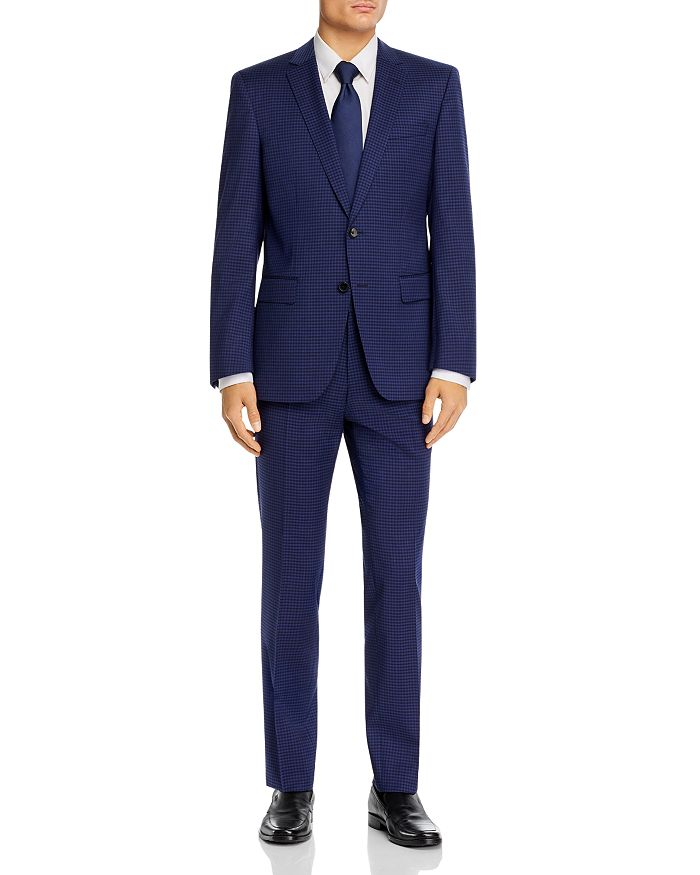 BOSS - Huge/Genius Small Check Slim Fit Suit