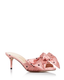 Charlotte Olympia - Women's Bow Kitten-Heel Sandals