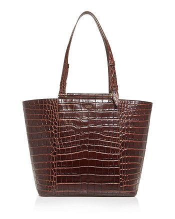 Max Mara - Croc-Embossed Leather Wing Tote