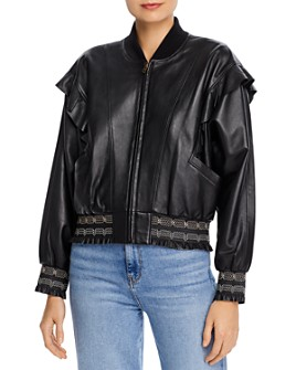 Joie - Temis Ruffled Leather Jacket