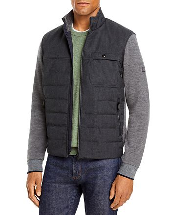 Z Zegna - Z Zegna Hybrid Wool Full-Zip Sweater with Nylon Front