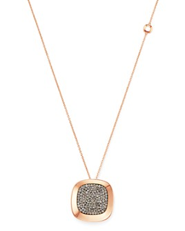 Roberto Coin - 18K Rose Gold Carnaby Street Cognac Diamond Pendant Necklace, 28""