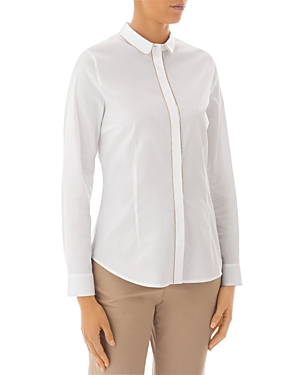 Peserico Embellished Button-Down Blouse