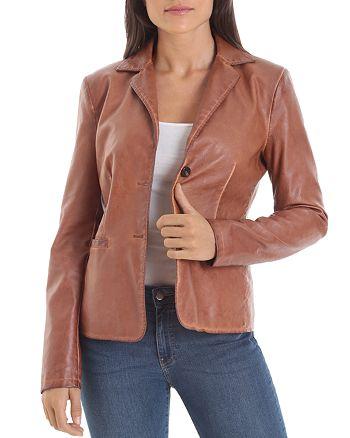 Bagatelle - Faux-Leather Blazer