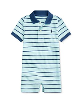 Ralph Lauren - Boys' Striped Polo Shortall - Baby