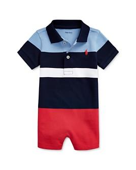 Ralph Lauren - Boys' Color-Block Stripe Polo Shortall - Baby