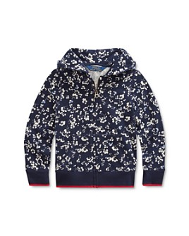 Ralph Lauren - Girls' Floral Print Terry Hoodie - Little Kid
