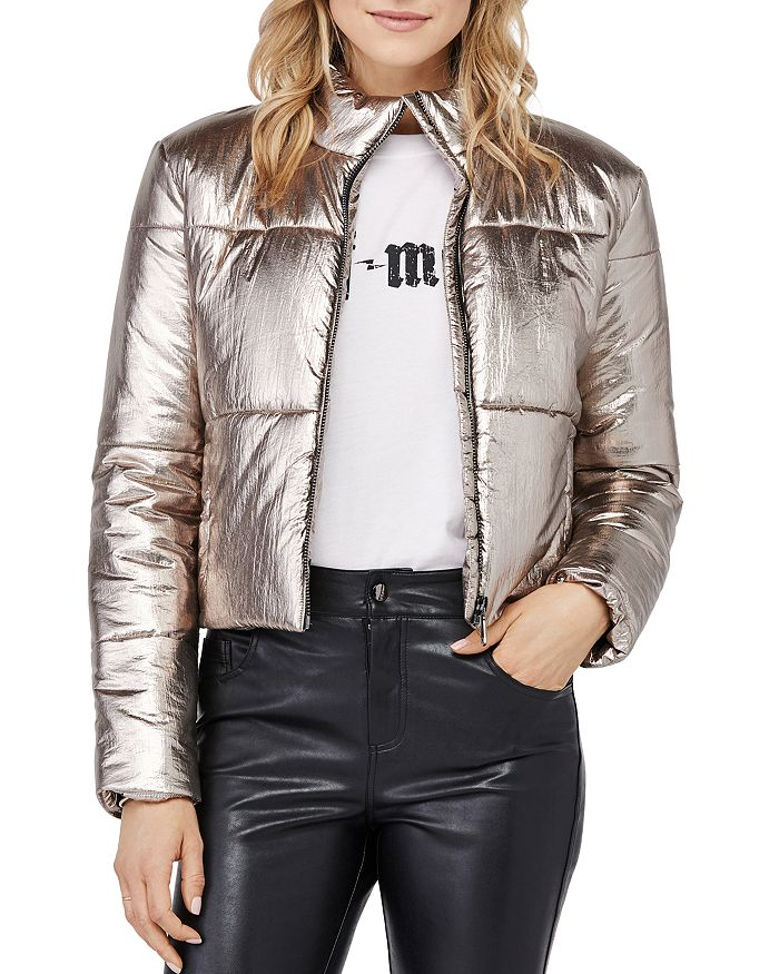 David Lerner - Bella Metallic Puffer Jacket