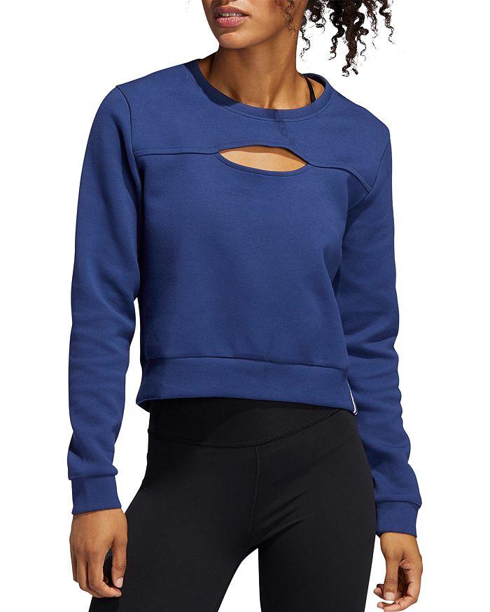 Adidas - Cutout Cropped Sweatshirt