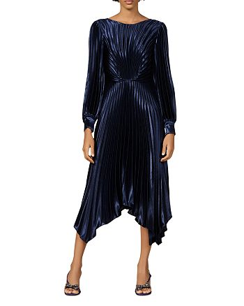 Sandro - Venezia Pleated Midi Dress
