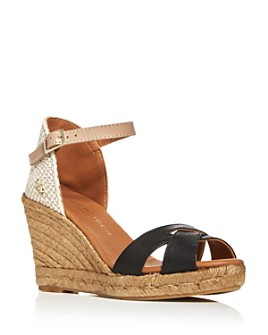 KURT GEIGER LONDON - Women's Leona Wedge Espadrille Sandals