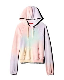 n:philanthropy - Gamble Distressed Tie-Dye Hooded Sweatshirt
