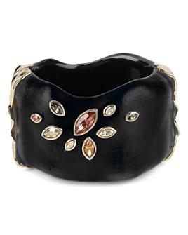 Alexis Bittar - Navette Crystal & Lucite Hinge Cuff Bracelet